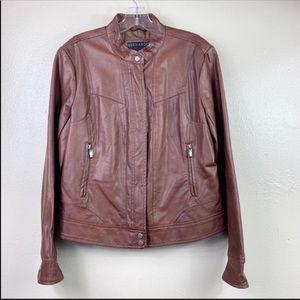 Bernardo faux leather brown jacket